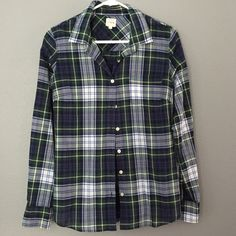 J.Crew The perfect shirt Tartan plaid J.Crew button down perfect shirt. Excellent condition J. Crew Tops Button Down Shirts