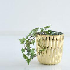 Kartell Jelly Vase Metalliczu kaufen bei http://www.flinders.de/kartell-design/ #vase #metallic #plant