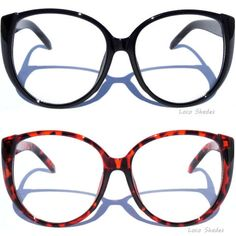 2f710e4f8f7 OVERSIZE BIG LARGE CAT EYE FRAME CLEAR LENS GLASSES Women s Retro Vintage  Style
