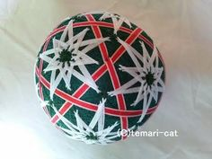 "Temari Lecture 130. How to make a Temari ""8-leaf pattern of hemp"". - YouTube"