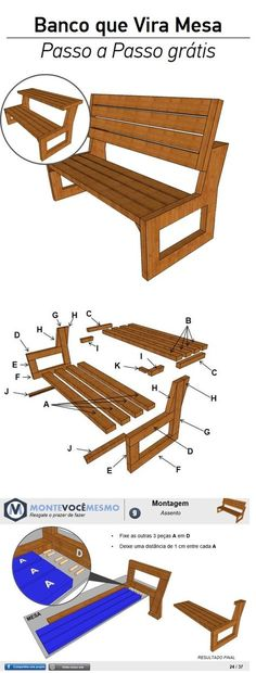 15 Ideas for reclaimed wood bench diy projects Reclaimed Wood Benches, Diy Wood Bench, Reclaimed Wood Projects, Wood Crafts, Diy And Crafts, Diy Bank, Japanese Joinery, Wood Table Design, Dark Wood Stain