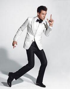 White Dinner Jacket: Brandon Flowers