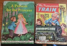 RAND McNALLY GIANT BOOK S  Mr. Punnymoons Train AND A Present for the Princess