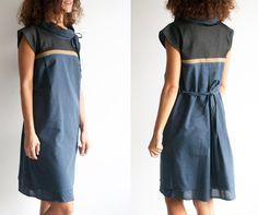 Plaid dress loose dress holiday dress cotton dress by PlatForma