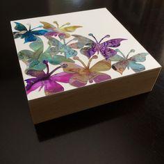 Work in progress. hey, it's summer and butterflies happen! Got a few of these I'm working on! Keys, Butterflies, Original Art, Decorative Boxes, Watercolor, Ink, Shit Happens, Artist, Summer