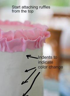 Fondant Tips, Frosting Tips, Fondant Cakes, Cupcake Cakes, Shoe Cakes, Frosting Techniques, Fondant Bow, Marshmallow Fondant, Fondant Flowers