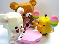 3D Paper Craft  Rilakkuma and friends paper by AllotropeOfCarbon