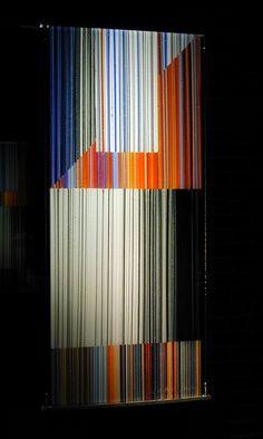 Jun Kaneko Untitled,  Glass,  2002 Fused glass 41h x 18w x .5d in. Photo credit Dirk Bakker