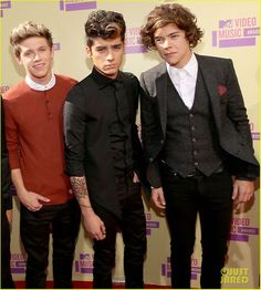 Niall Horan Zayn Malik and Harry Styles at the VMAs