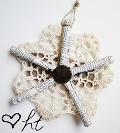 handmade snowflake ornament tutorial