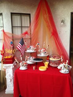 United States marine party #usmc Military Send Off Party Ideas, Military Retirement Parties, Military Party, Usmc Birthday, Marine Corps Birthday, Adult Birthday Party, Marine Graduation, Marine Corps Wedding, Marine Ball