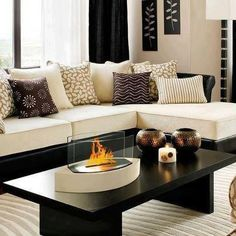 Black and Cream Living Rooms