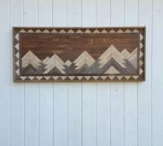 Reclaimed Wood Wall Art  Twin Headboard  Full by PastReclaimed