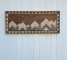 Reclaimed Wood Wall Art  Twin Headboard  Full by PastReclaimed
