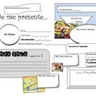 All about me... in French! Great way for students to write about and introduce themselves in French on the first days of school. The multiple boxes...