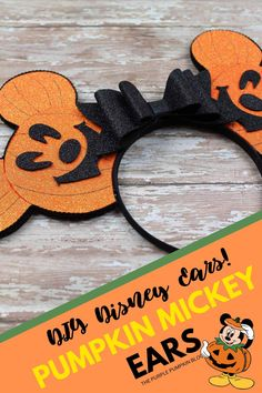 These Pumpkin Mickey Ears will have everyone envious at Halloween! If you love Mickey Ears at the Disney Parks and have always wanted to make your own pair, then this tutorial is for YOU! No sewing is involved, just some hot glue action - the end result is so awesome! These DIY handmade Pumpkin Mickey Ears are perfect to wear at Mickey's Not-So-Scary Halloween Party! #PumpkinMickeyEars #DisneyEars #MickeyEars #MinnieEars #DisneyCrafts #ThePurplePumpkinBlog #DIYMickeyEars Mickey Halloween Party, Halloween Crafts, Scary Halloween, Family Halloween, Foam Crafts, Diy And Crafts, Mickey Mouse Pumpkin, Disney Diy Crafts, Disney On A Budget
