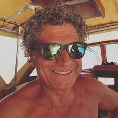 Fresh from the sea - Skipper Stefan wears the Barnes Horn Cyan Mirror
