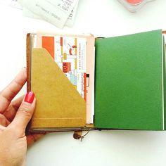 Seaweed Kisses: How I store travel ephemera with the Midori Passport - Traveler's Notebook - DIY Project