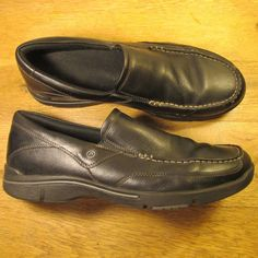df597b02e22 Rockport City Play Eberdon Black Leather Slip-On Loafers Mens 11 Shoes  Dress  Rockport