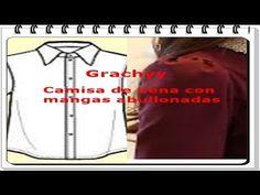 Trazo Camisa de nena con mangas abullonadas - YouTube