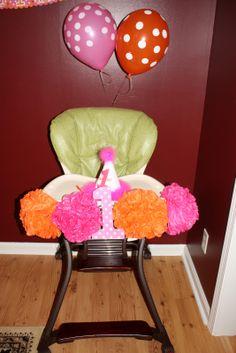 1st birthday highchair decorations - Google Search