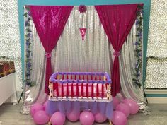 Struggling for ideas for the baby naming ceremony decoration? Remarkable cradle ceremony decoration & themes to make your little one's day memorable. Naming Ceremony Decoration, Ceremony Backdrop, Ceremony Decorations, Backdrop Decorations, Diwali Decorations, Balloon Decorations, Flower Decorations, Baby Shower Backdrop, Baby Shower Themes