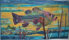"""""""Lunker"""" designed and sewn by Carole Mitchell for Bill's birthday 2011"""