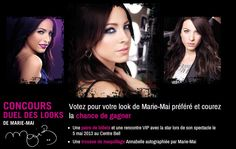 Concours Duel des Looks de Marie-Mai Marie, Movie Posters, Annabelle Makeup, Dancing With The Stars, Pageants, Film Poster, Billboard, Film Posters