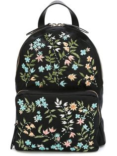 Red Valentino Mochila com bordado floral Hippie Backpack, Backpack Purse, Fashion Backpack, Floral Backpack, Rucksack Bag, Mochila Floral, Mochila Hippie, My Bags, Purses And Bags