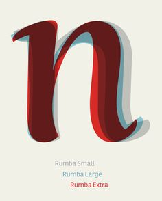 Rumba 'n' comparision. Rumba™ an amazing and extremely beautiful typeface by Laura Meseguer Cool Typography, Typography Letters, Typography Poster, Cool Fonts, Graphic Design Typography, Branding Design, Fun Fonts, Hand Lettering, Modern Graphic Design