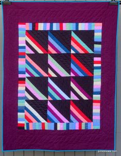 Amish-Inspired Roman Stripe Baby Quilt by Pink Doxies Stripe Quilt Pattern, Striped Quilt, Baby Quilt Patterns, Roman Fashion, Amish Quilts, Table Toppers, Design Your Own, Quilting Designs, Baby Quilts