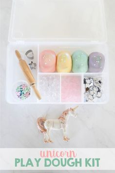 diy unicorn playdoh kit Make your own unicorn play dough kit Play Doh Kits, Diy Play Doh, Play Dough, Playdough Activities, Activities For Kids, Motor Activities, Playdough Diy, Toddler Crafts, Crafts For Kids