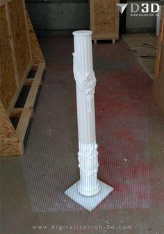 Escaneando en 3d una columna con tallas acopladas