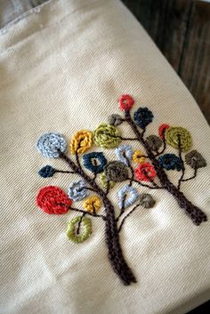 gorgeous tree embroidery would look lovely on a pillowcase