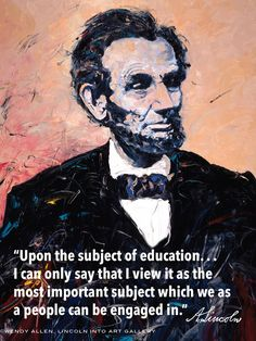 Abraham Lincoln: Words to Learn By by LincolnIntoArt on Etsy