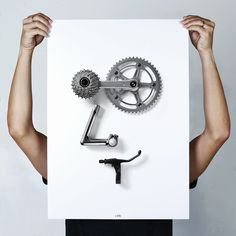 bikemoji posters by thomas yang caricaturize bike-buffs with cycle parts