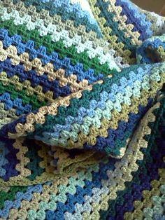 blues and greens granny stripe