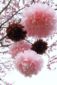 Valentine pom poms