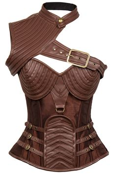 Steampunk is the new sexy. Check out our Atomic Brown Leather Steel Boned Steam One Shoulder Corset.  https://atomicjaneclothing.com/products/atomic-brown-leather-steel-boned-steam-one-shoulder-corset