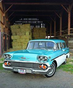 One Hit Wagon - 1958 Chevrolet Yeoman Station Wagon - - Hemmings Motor News Chevrolet Camaro, Chevrolet Corvette, Chevy Impala, Station Wagon Cars, Car Advertising, Us Cars, General Motors, Buick, Cadillac