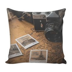 Vintage Photography Pillow Cover