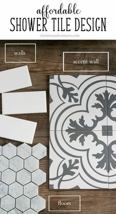 Great resource with information about how to find affordable bathroom and shower tiles, and how to pair them together Pin for future reference for sure! The post Affordable bathroom tile designs appeared first on Best Pins for Yours - Bathroom Decoration Bad Inspiration, Bathroom Inspiration, Bathroom Inspo, Bathroom Renovations, Home Remodeling, Small Bathroom Remodeling, Bathroom Remodelling, Decorating Bathrooms, Basement Renovations