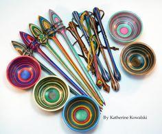 Katherine Kowalski - Woodturning Workshops and Demonstrations, Contemporary Art, Woodturned Mixed Media Artwork, Handmade Wooden Crochet Hooks, Spinning Tools