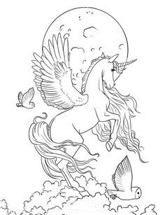 free coloring pages of mystical fairies fairy art coloring book by selina fenech unicorn fantasy fairies pages of mystical free coloring Horse Coloring Pages, Unicorn Coloring Pages, Fairy Coloring, Coloring Pages To Print, Adult Coloring Pages, Colouring Pages, Coloring Books, Cartoon Coloring Pages, Mandala Coloring Pages