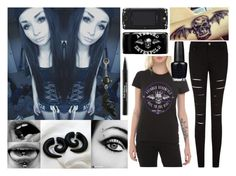 """""""Avenged Sevenfold Fan"""" by bandlover11132 ❤ liked on Polyvore featuring Trish McEvoy and OPI"""