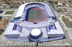 Modelação 3D do Estádio Cidade de Coimbra.  Pode encontrar este nosso trabalho na camada earth do google maps.