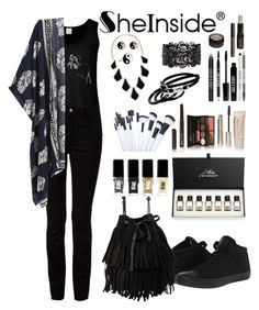 """SheIn Contest"" by selmagorath ❤ liked on Polyvore featuring T By Alexander Wang, Laura Mercier, Lord & Berry, Givenchy, JINsoon, Converse, MANGO, Accessorize, Kendra Scott and Furla"