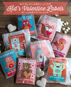 Printable Valentine's Day Gift Labels & Cards for Kids | Lia Griffith