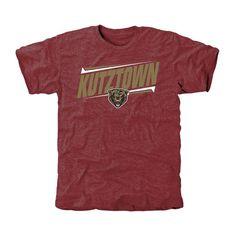 Kutztown Golden Bears Double Bar Tri-Blend T-Shirt - Maroon