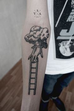 #hand #ladder #tattoo ...started thinking about a ladder tattoo, and liked the idea of this one :))